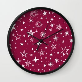 Multiple shapes and sizes stars XI Wall Clock