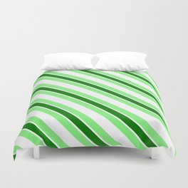Green stripes Duvet Cover