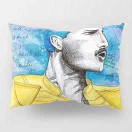 Queen F. Mercury Watercolor Portrait Pillow Sham