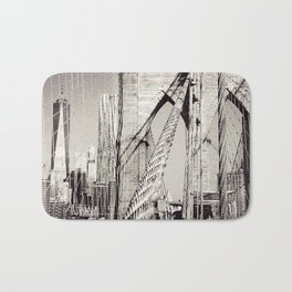 1 WTC & Brooklyn Bridge, New York City  Bath Mat