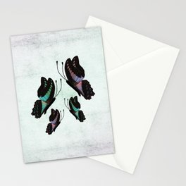 Purple and Blue Butterflies  Stationery Cards