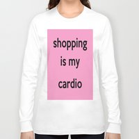 shopping Long Sleeve T-shirts featuring SHOPPING by I Love Decor