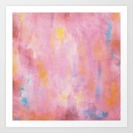 Pink Vert Art Print
