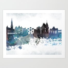 Brussels canvas wall art Art Print