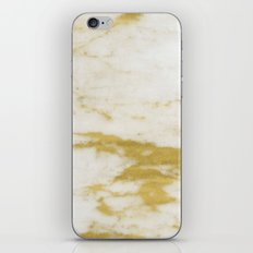 Marble - Shimmery Gold Marble and White iPhone & iPod Skin