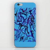carousel iPhone & iPod Skins featuring Carousel by Art by Mel