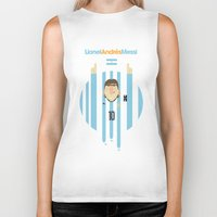 messi Biker Tanks featuring Lionel Messi Argentina Illustration  by Gary  Ralphs Illustrations