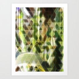 Cactus Garden Art Triangles 2 Art Print
