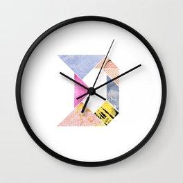 Tangram Alphabet - D Wall Clock