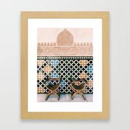 Alhambra Seats Framed Art Print