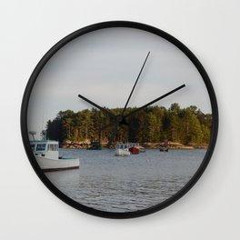 Lobster Boats Wall Clock