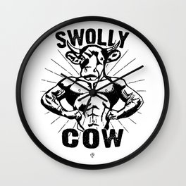 Swolly Cow  Wall Clock