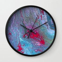 Liquid Marble Worlds Wall Clock