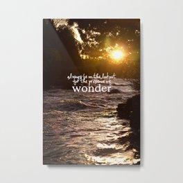 presence of wonder. Metal Print