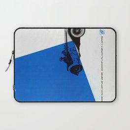 Vintage British Race Car Poster Laptop Sleeve