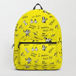 Patterned gym leggings and more, work out pattern Backpack