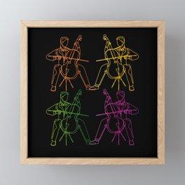 Cello Player Violin Chello Musicians Framed Mini Art Print