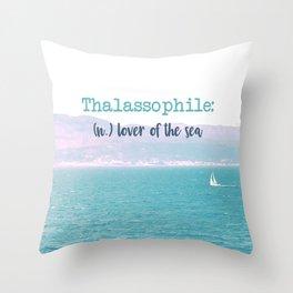 Thalassophile Throw Pillow