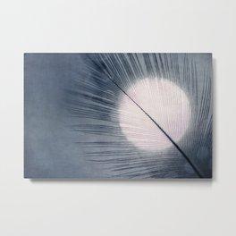blue leaf IV Metal Print