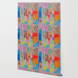 Colorful Bedroom #society6 Wallpaper