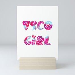 VSCO, VSCO Girl, Cute, Aesthetic,College, TikTok,Scrunchie,Water,Vintage,Watercolor Christmas, Gift, Mini Art Print