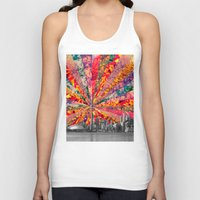 toronto Tank Tops featuring Blooming Toronto by Bianca Green