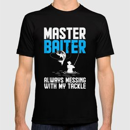 Funny Master Baiter Fishing Fisherman Angler Fish Design Gift T-shirt