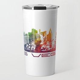 Las Vegas skyline color Travel Mug