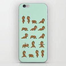 Yoga Bear iPhone Skin