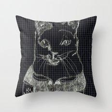 ofelia la gata Throw Pillow