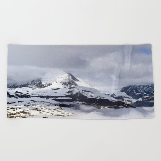 Mountain meets Clouds Beach Towel