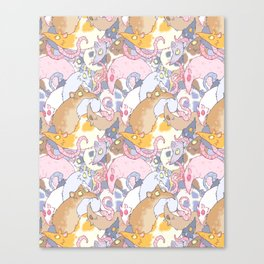 Fancy Rat Pattern Canvas Print