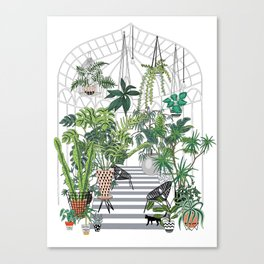 greenhouse illustration Canvas Print