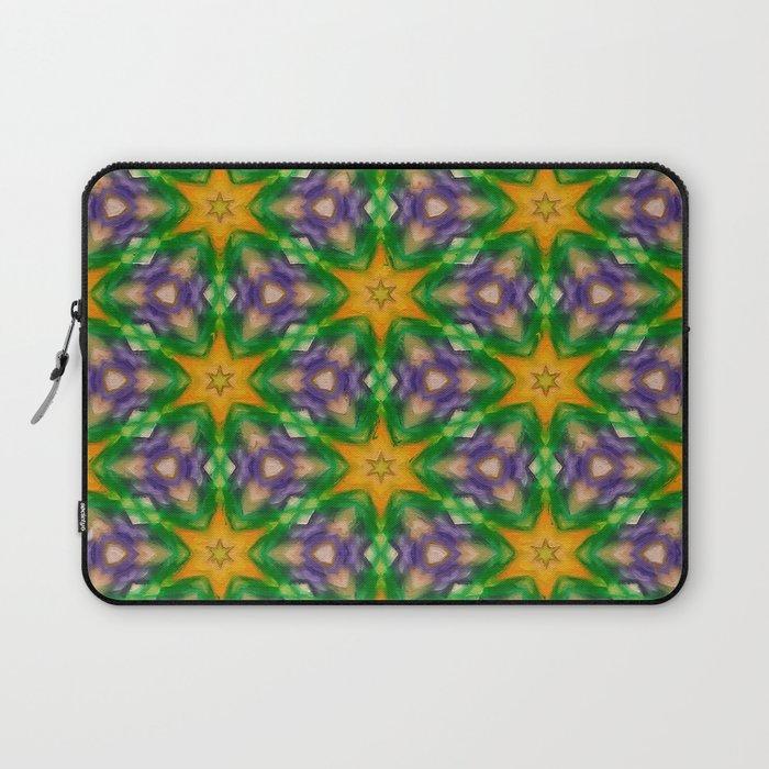 Mardi Gras stars #4509 Laptop Sleeve