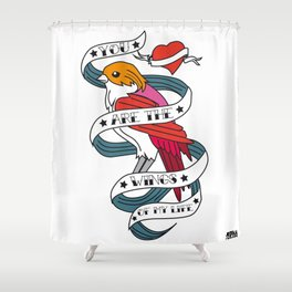 05 - TATTOO WINGS Shower Curtain