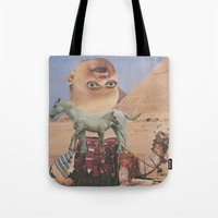 desert Tote Bags featuring Desert by Jon Duci