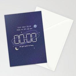 mots - zero o'clock  Stationery Cards