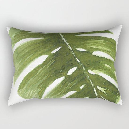 Nature leaves I monstera Rectangular Pillow