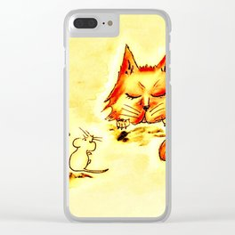 When the Cat's Away Clear iPhone Case