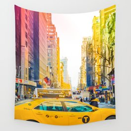 Colors of New York City Downtown Manhattan Wall Tapestry
