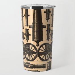 Vintage Cannon & Artillery Diagrams (1907) Travel Mug