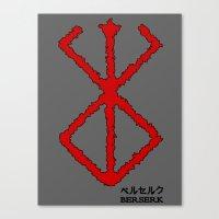 berserk Canvas Prints featuring Berserk Sacrifice by Vortha