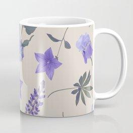 seamless   pattern of blue flowers . Endless texture Coffee Mug