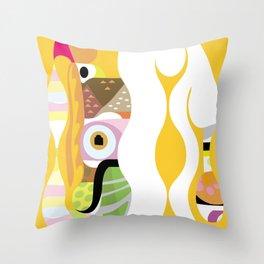Swan Pond Throw Pillow