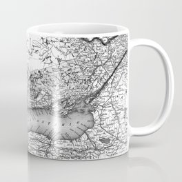 Vintage Map of Ontario (1857) BW Coffee Mug