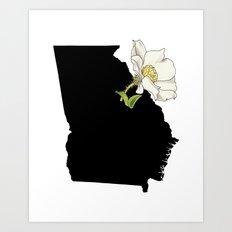 Georgia Silhouette Art Print