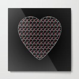Love or Amor V All Print Over Shirts Metal Print