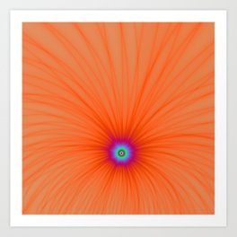 Tangerine Color Explosion Art Print