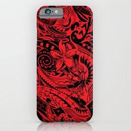 Hawaiian - Samoan - Polynesian Red Tribal Print iPhone Case