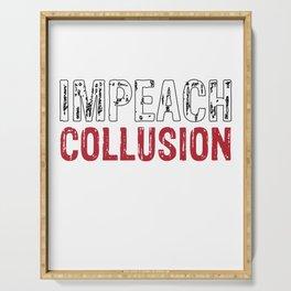 Impeachment Collision Design Serving Tray
